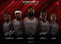 Clint dans 5 de base des Houston Rockets